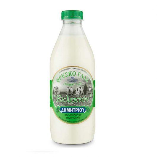 Γάλα αγελάδος ελαφρύ ΔΗΜΗΤΡΙΟΥ 1 λίτρο