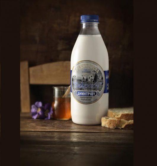 Γάλα αγελάδος πλήρες ΔΗΜΗΤΡΙΟΥ 1 λίτρο