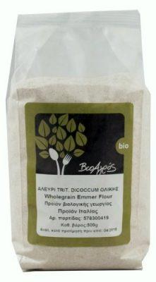 Αλεύρι Δίκοκκο σιτάρι ολικής αλέσεως Bio 1 κιλό.