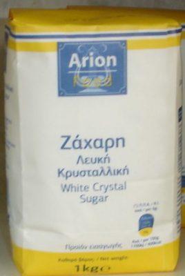 Ζάχαρη λευκή κρυσταλλική 1 κιλό.